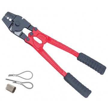 OPT HAND SWAGER WITH WIRE CUTTER, AL OVAL SLEEVES (ALUMINIUM) - HS-24