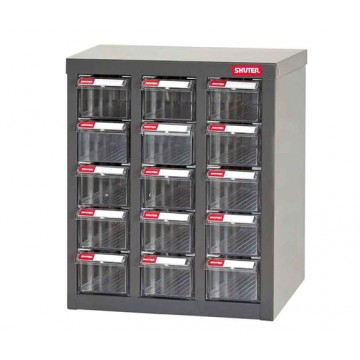 SHUTER STEEL CASE WITH PLASTIC DRAWERS A8-315