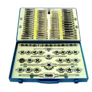 SKC 110 CFM TAP AND DIE SETS (SCREW PLATE SETS) CARBON STEEL COMBINATION OF METRIC, UNC, UNF, UNS, NPT THREAD